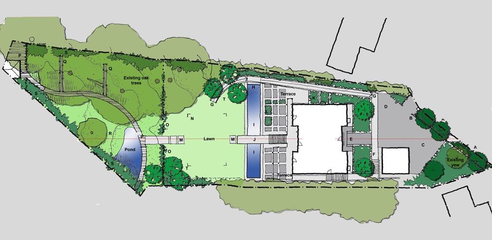 Garden design case study huf haus private client the for Study landscape design